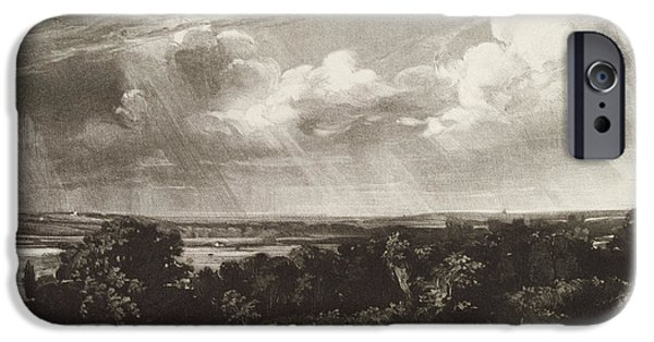 Agriculture iPhone Cases - Summerland, Engraved By David Lucas 1802-81 Mezzotint iPhone Case by John Constable