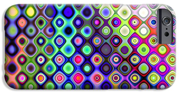 Abstract Expressionist iPhone Cases - Summers Colourful Nights iPhone Case by Hakon Soreide