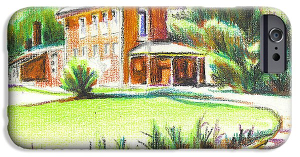 Unique Drawings iPhone Cases - Summertime at Ursuline No C101 iPhone Case by Kip DeVore