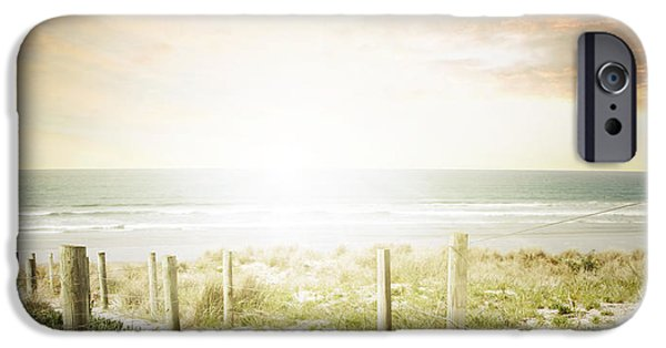 Moody Beach iPhone Cases - Summertime boardwalk iPhone Case by Les Cunliffe
