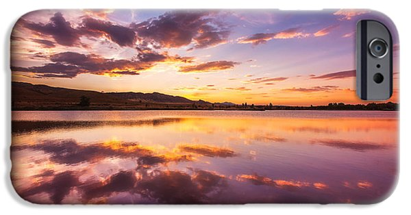 Sunset Framed Prints iPhone Cases - Summertime Sunset iPhone Case by Darren  White