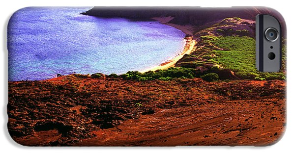 Summit iPhone Cases - Summit of Bartolome Islet iPhone Case by Thomas R Fletcher