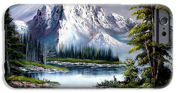 Bob Ross Paintings iPhone Cases - Sun After Rain iPhone Case by Shirwan Ahmed
