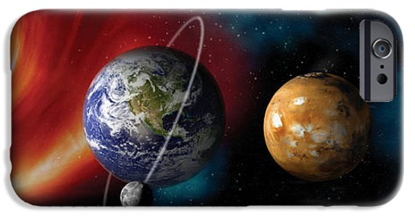 Discovery iPhone Cases - Sun And Planets iPhone Case by Panoramic Images
