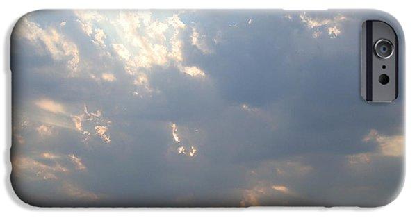 Sun Breaking Through Clouds iPhone Cases - Sun Breaking Through iPhone Case by B Rossitto