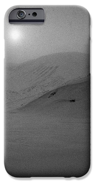 sun breaking through white out snowstorm whalers bay deception island Antarctica iPhone Case by Joe Fox