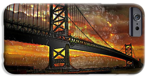 Business iPhone Cases - SUN  Bridge iPhone Case by Glenn Anderson