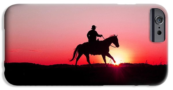 The Horse iPhone Cases - Sun Dancer iPhone Case by Steven Bateson