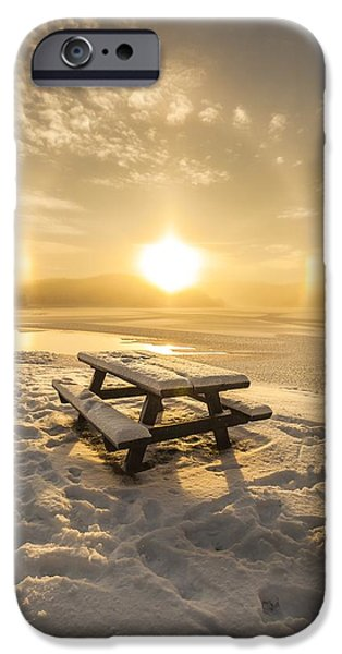Landscape In Norway iPhone Cases - Sun Dog iPhone Case by Rose-Maries Pictures