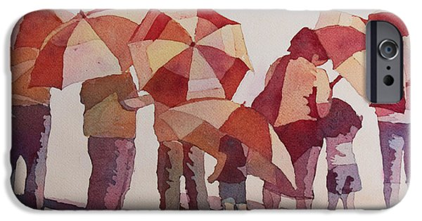 Umbrella iPhone Cases - Sun Drenched Parasols  iPhone Case by Jenny Armitage