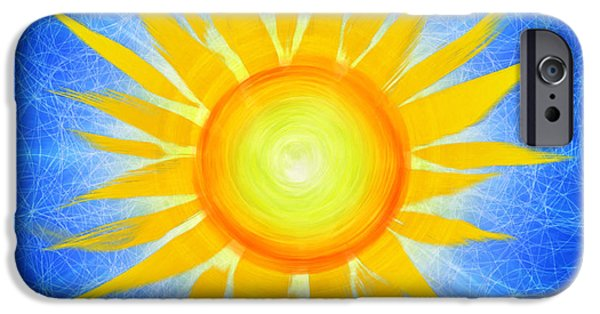 Illumination iPhone Cases - Sun Flower iPhone Case by Tim Gainey