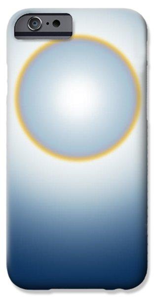 sun halo iPhone Case by ATIKETTA SANGASAENG
