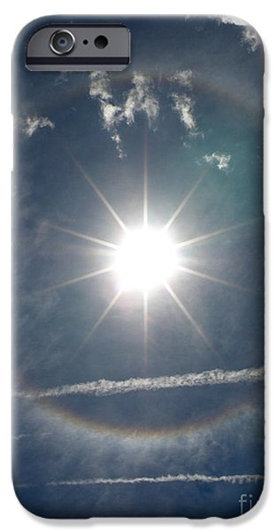 Jet Star iPhone Cases - Sun Halo iPhone Case by Lainie Wrightson