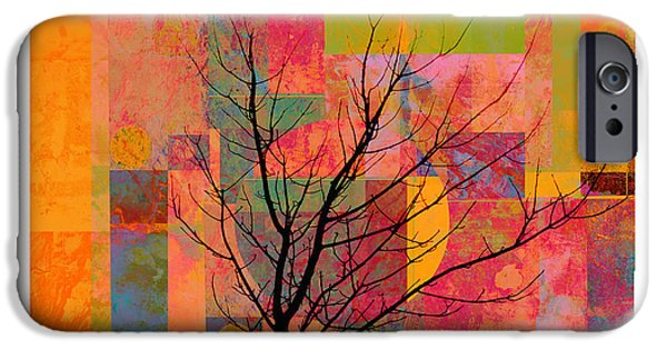 Abstract Digital Mixed Media iPhone Cases - Sun in The City - abstract - art  iPhone Case by Ann Powell