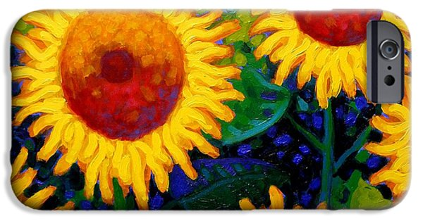 Wine Canvas Paintings iPhone Cases - Sun Lovers II iPhone Case by John  Nolan