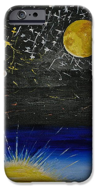 Sun Moon and Stars iPhone Case by Donna Blossom