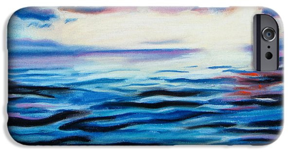 Ocean Sunset Pastels iPhone Cases - Sun On Water iPhone Case by Michael Foltz