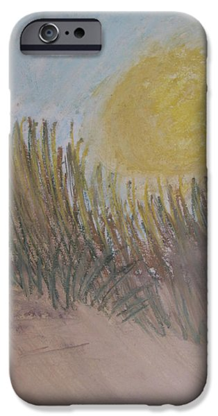 Sand Dunes Pastels iPhone Cases - Sun Over Dune iPhone Case by Kathleen Dunn