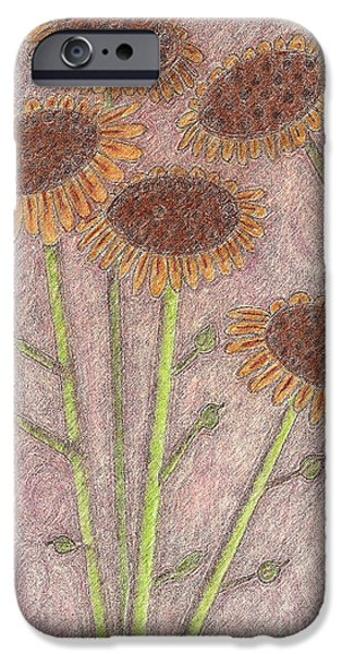 Rust Pastels iPhone Cases - Sun Pods In Bloom iPhone Case by Robyn Louisell