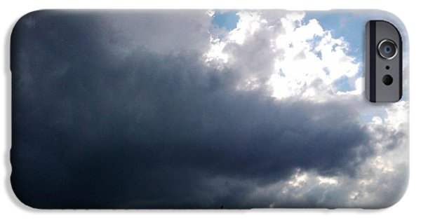 Dark Skies Pastels iPhone Cases - Sun Rain iPhone Case by Jo-Ann Hayden