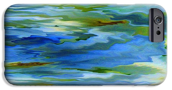 Abstract Expressionism iPhone Cases - Sun Ray Reflection iPhone Case by Cedric Hampton