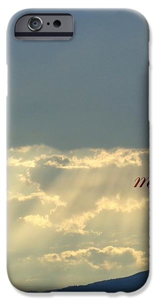 Sun Rays Ecclesiastes Chapter 3 verse 11 iPhone Case by Jannice Walker