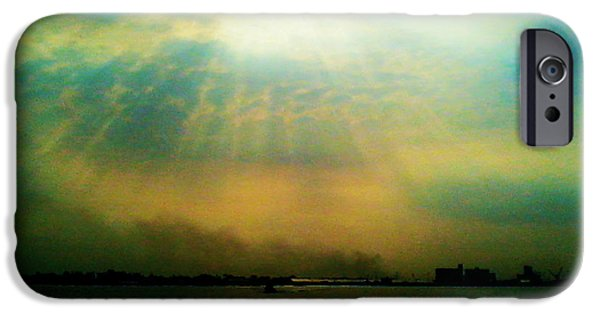Clouds Tapestries - Textiles iPhone Cases - Sun Rays iPhone Case by Sivaanan Balachandran