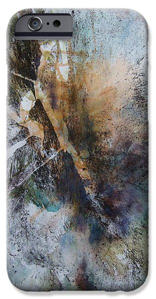 Abstract Mixed Media iPhone Cases - Sun Rising iPhone Case by BJ Pinkston