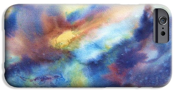 Sun Rays Paintings iPhone Cases - Sun Rising II iPhone Case by BJ Pinkston