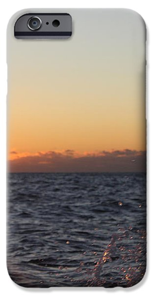 Sun Rising Through Clouds in Rough Waters iPhone Case by JOHN TELFER