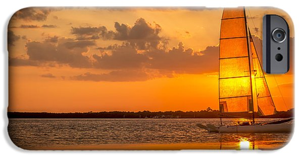Sailing iPhone Cases - Sun Sail iPhone Case by Marvin Spates