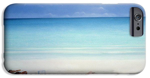 Sunglasses iPhone Cases - Sun, Sand And Money Ii iPhone Case by Lincoln Seligman