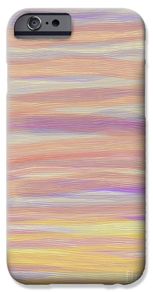 Electronic iPhone Cases - Abstract Sun Sea and Sand iPhone Case by Linsey Williams