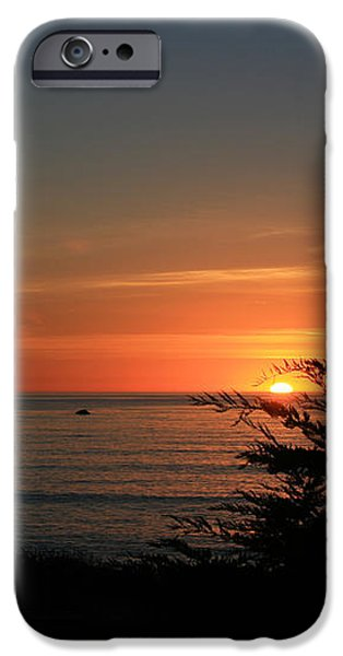 Sun Setting in Cambria Calm Pacific iPhone Case by Ian Donley