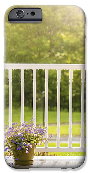 Sun Porch iPhone Cases - Sun Showers iPhone Case by Diane Diederich