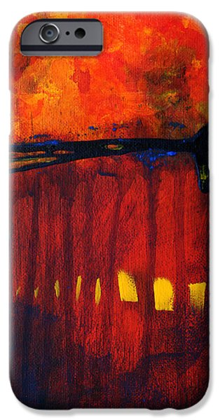 Business Paintings iPhone Cases - Sun Spots iPhone Case by Nancy Merkle