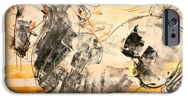 Horse Racing Mixed Media iPhone Cases - Horses Stallion iPhone Case by Donna Bernstein