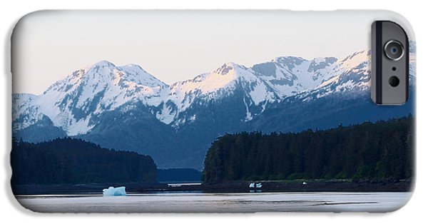 Chatham iPhone Cases - Sun Topped Mountain Sunrise Alaska  iPhone Case by Tom Wurl