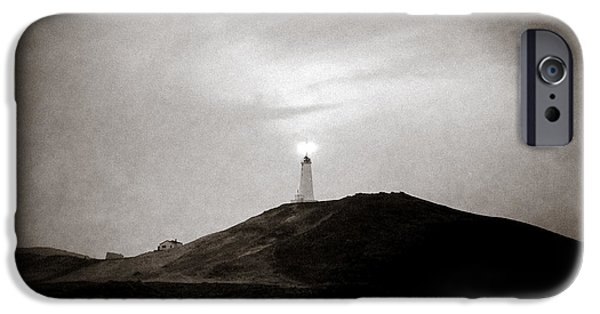 Lighthouse iPhone Cases - Sun Tower iPhone Case by Dave Bowman