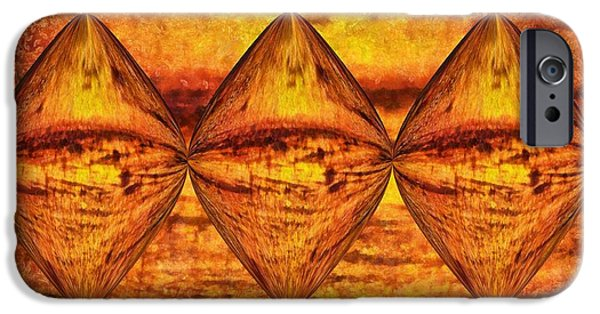 Connect Mixed Media iPhone Cases - Sun Trinity iPhone Case by Dan Sproul