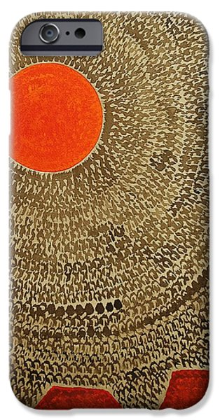 Printmaking iPhone Cases - Sun Valley original painting iPhone Case by Sol Luckman