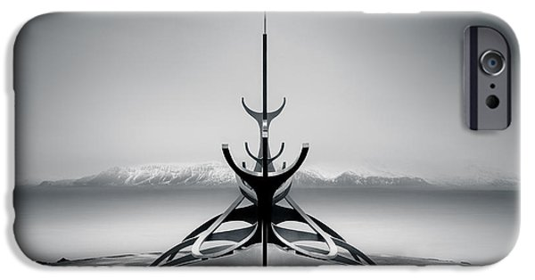 Freedom iPhone Cases - Sun Voyager iPhone Case by Dave Bowman