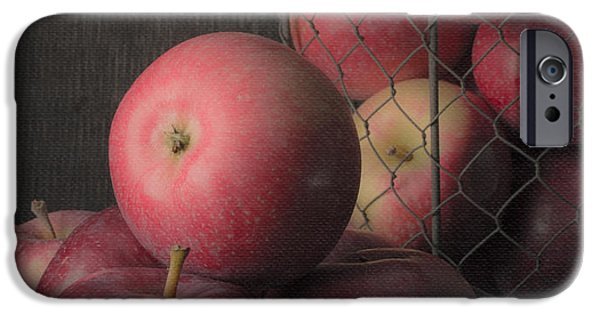 Painter Photographs iPhone Cases - Sun Warmed Apples Still Life Standard Sizes iPhone Case by Edward Fielding