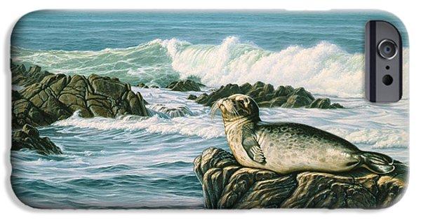 Harbor Paintings iPhone Cases - Sunbather  iPhone Case by Paul Krapf