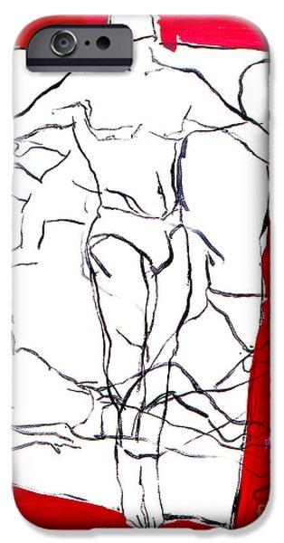 Figure iPhone Cases - Sunbathing iPhone Case by John Castell