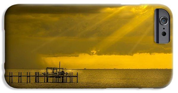 Gulf Of Mexico iPhone Cases - Sunbeams of Hope iPhone Case by Marvin Spates