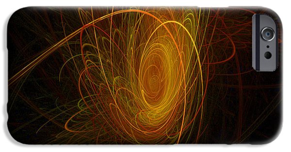 Abstract Digital Art iPhone Cases - Sunburst iPhone Case by Michael Durst