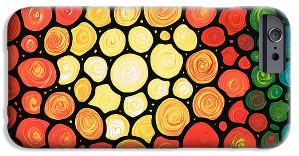 Sun Paintings iPhone Cases - Sunburst iPhone Case by Sharon Cummings