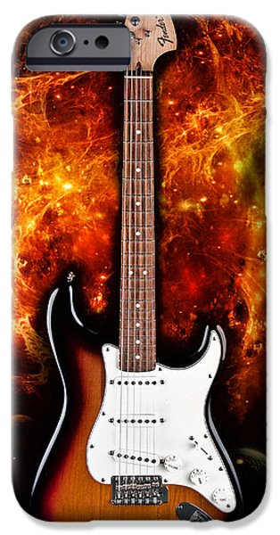 Fender Strat iPhone Cases - Sunburst Stratocaster iPhone Case by Peter Chilelli