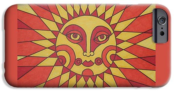 Lips iPhone Cases - Sunburst iPhone Case by Susie Weber